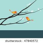 vector illustration of a bird... | Shutterstock .eps vector #47840572