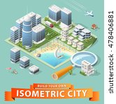 build your own isometric city.... | Shutterstock .eps vector #478406881