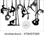 aerial yoga icon set. flying...   Shutterstock .eps vector #478407085