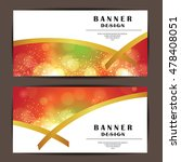 card and banner design with... | Shutterstock .eps vector #478408051