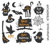 set of black labels  badges and ... | Shutterstock .eps vector #478409149