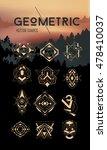 geometric hipster symbols set....   Shutterstock .eps vector #478410037