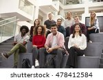 portrait of student group on... | Shutterstock . vector #478412584