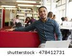 portrait of male university... | Shutterstock . vector #478412731