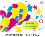 abstract colorful party...   Shutterstock .eps vector #47841412