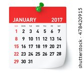 january 2017   calendar.... | Shutterstock . vector #478420915