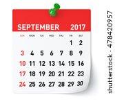 September 2017   Calendar....
