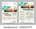 green brochure layout design... | Shutterstock .eps vector #478427071