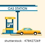 gas filling station. energy.... | Shutterstock .eps vector #478427269