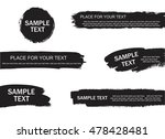 set of creative grunge banners  ... | Shutterstock .eps vector #478428481