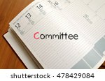 committee text concept write on ... | Shutterstock . vector #478429084