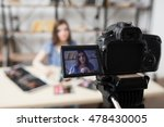 young female beauty blogger on... | Shutterstock . vector #478430005