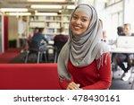 portrait of female university... | Shutterstock . vector #478430161