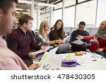 group of students in library...   Shutterstock . vector #478430305