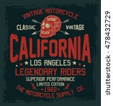 california motorcycle  vintage... | Shutterstock .eps vector #478432729