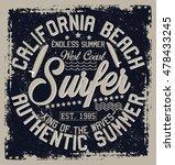 california  beach  authentic...   Shutterstock .eps vector #478433245