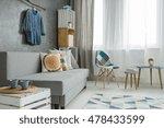 modern minimalistic living room ... | Shutterstock . vector #478433599