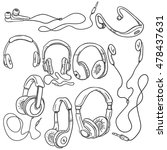vector set of sketch... | Shutterstock .eps vector #478437631