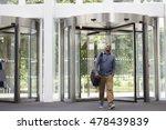 middle aged black man entering... | Shutterstock . vector #478439839