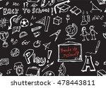 back to school doodles seamless ... | Shutterstock .eps vector #478443811