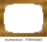 gold photo frame with corner... | Shutterstock .eps vector #478446865