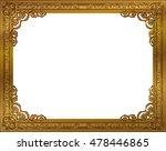 gold photo frame with corner... | Shutterstock .eps vector #478446865