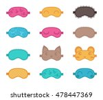 sleep masks. vector... | Shutterstock .eps vector #478447369