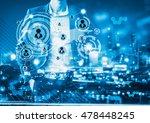 digital business revolution... | Shutterstock . vector #478448245