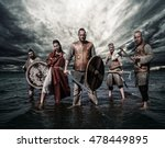 a group of armed vikings ... | Shutterstock . vector #478449895