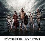 A Group Of Armed Vikings ...