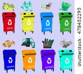 containers for recycling  waste ... | Shutterstock .eps vector #478452295