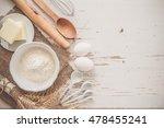 ingredients for baking   milk... | Shutterstock . vector #478455241