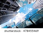 abstract buildings background | Shutterstock . vector #478455469
