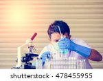 scientists and scientific... | Shutterstock . vector #478455955