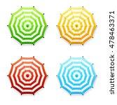set of vector striped beach or... | Shutterstock .eps vector #478463371