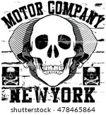 motorcycle skull tee graphic... | Shutterstock . vector #478465864
