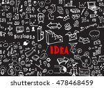 hand drawn seamless doodle... | Shutterstock .eps vector #478468459