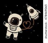 vector cosmonaut illustration | Shutterstock .eps vector #478469065