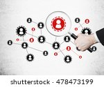 red and black startup sketch on ... | Shutterstock . vector #478473199