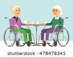 happy disabled senior women in... | Shutterstock .eps vector #478478341