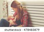 mother breast feeding her baby... | Shutterstock . vector #478483879