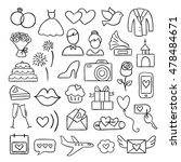 wedding icons. vector wedding... | Shutterstock .eps vector #478484671