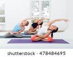 yoga class in fitness studio   Shutterstock . vector #478484695