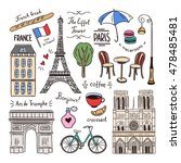 paris hand drawn illustrations. ... | Shutterstock .eps vector #478485481