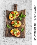 bruschetta with tomatoes and... | Shutterstock . vector #478486384