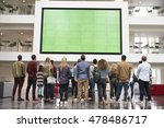 students looking up at a big... | Shutterstock . vector #478486717