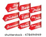 tags  sticker   labels discount ... | Shutterstock .eps vector #478494949