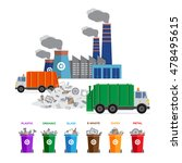 waste segregation and garbage... | Shutterstock .eps vector #478495615