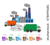 waste segregation and garbage... | Shutterstock .eps vector #478495681
