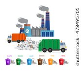 waste segregation and garbage... | Shutterstock .eps vector #478495705
